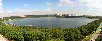 East Region, Singapore - Image: 1 bedok reservoir panorama 2010