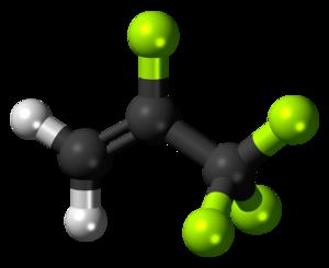 2,3,3,3-Tetrafluoropropene - Image: 2,3,3,3 Tetrafluoropropene 3D balls
