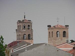 Alcazarén - Church towers, Alcazarén