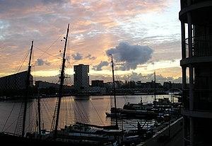 Amsterdam-Oost - View on KNSM-eiland, Oostelijk Havengebied.