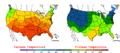 2006-05-25 Color Max-min Temperature Map NOAA.png