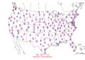 2008-06-23 Max-min Temperature Map NOAA.png