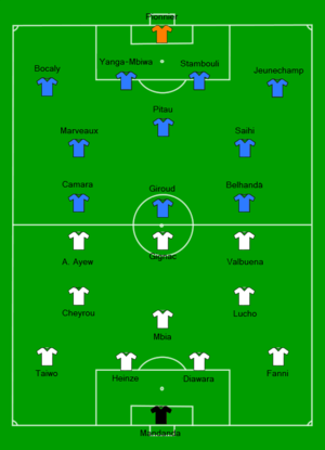 2011 French League Cup final - Olympique de Marseille vs Montpellier HSC Line-up.png