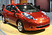 English: 2011 Nissan Leaf electric car at the ...