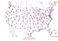 2012-11-25 Max-min Temperature Map NOAA.png
