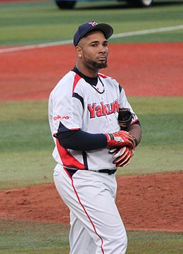 20120503 Wladimir Balentien, outfielder of the Tokyo Yakult Swallows, at Yokohama Stadium.JPG