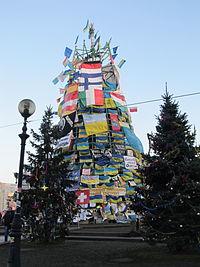 Головну новорічну ялинку України урочисто відкрили на Софійській площі в Києві - Цензор.НЕТ 8428
