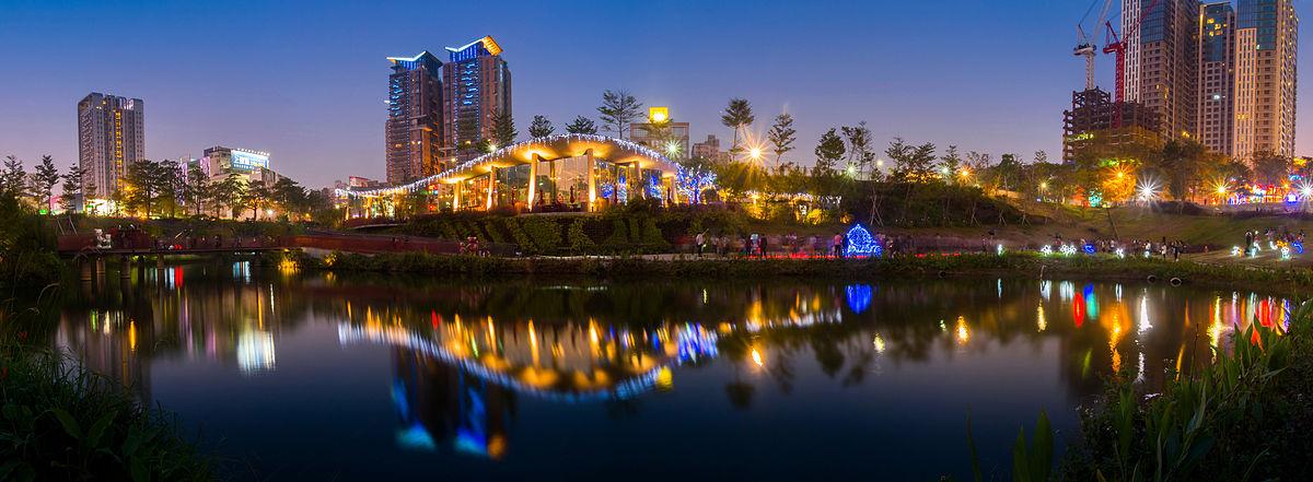 2014秋紅谷公園夜景.jpg