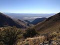 2014-10-03 08 28 14 View east toward Newark Valley from the ridgeline between Alpha Peak and Diamond Peak in the Diamond Mountains, Nevada.JPG