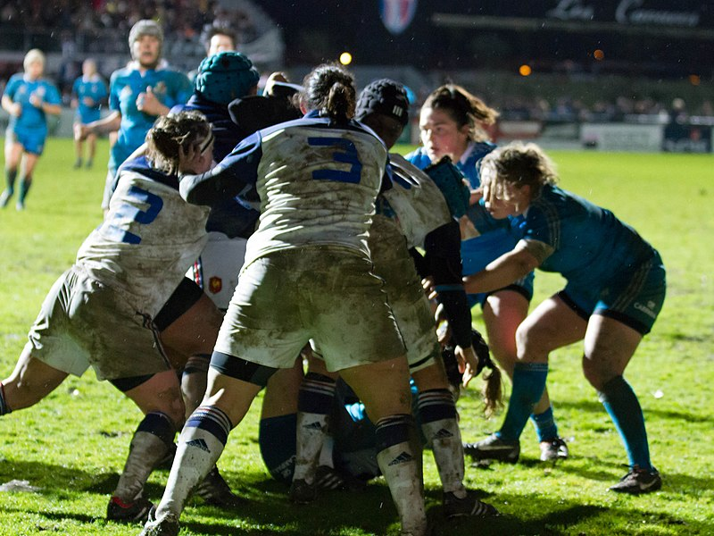 2014 Women's Six Nations Championship — 9 February 2014, Stade Ernest Argeles. Match between:  France women's national rugby union team — Italy women's national rugby union team