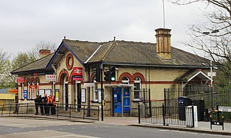 Alexandra Palace railway station - The station buildings at street level