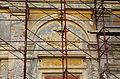 2014 giu Villa Pellegrini Marioni Pullè, Chievo, Verona, photo Paolo Villa back side, Doric - Tuscan order, drops, pilaster strip, circular tympanum, coat-of-arms, corbel, grotesques FOTO6327bis.jpg