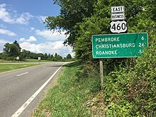 Special routes of U S  Route 460 - Wikipedia