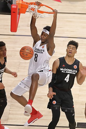 2018 NBA draft - Jaren Jackson Jr. (in white) was selected fourth by the Memphis Grizzlies.