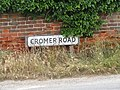 2018-06-28 Street name sign, Cromer Road, Trimingham.JPG