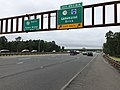 2018-09-12 14 57 56 View south along New Jersey State Route 444 (Garden State Parkway) at Exit 89 (New Jersey State Route 70, Ocean County Route 528, Lakehurst, Brick) in Lakewood Township, Ocean County, New Jersey.jpg