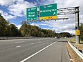 2018-10-29 13 29 29 View north along Virginia State Route 286 (Fairfax County Parkway) at the exit for Interstate 66 EAST (Washington) in Fair Lakes, Fairfax County, Virginia.jpg