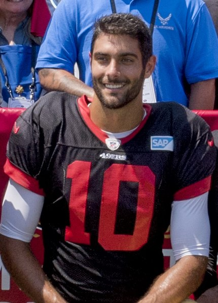 2018 Jimmy Garoppolo (cropped)