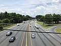 2019-07-11 12 53 34 View west along Interstate 495 (Capital Beltway) from the overpass for U.S. Route 29 (Colesville Road) along the edge of Silver Spring and Four Corners in Montgomery County, Maryland.jpg