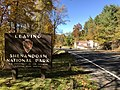 2019-10-28 12 42 06 View west along U.S. Route 211 (Lee Highway) exiting Shenandoah National Park in Page County, Virginia.jpg