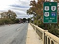 2019-10-29 12 51 44 View west along Virginia State Route 3 Business (William Street-Kings Highway Bridge) crossing the Rappahannock River from Chatham Heights, Stafford County, Virginia to Fredericksburg, Virginia.jpg