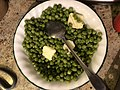2019-11-28 14 28 40 A bowl of peas laid out for Thanksgiving Dinner in the Parkway Village section of Ewing Township, Mercer County, New Jersey.jpg
