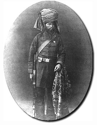 127th Baluch Light Infantry - Image: 27th Bombay Native Inf 1865. L Naik Wazir Khan