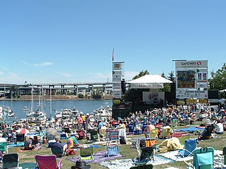 Waterfront Blues Festival - The festival's main stage in 2007