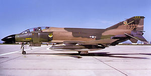 310th Fighter Squadron - 310th TFTS McDonnell F-4C-23-MC Phantom 64-0777, 1980. Note the red star on the intake, noting this aircraft shot down a MiG aircraft during the Vietnam War.