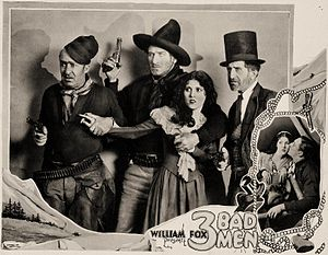 3 Bad Men - Lobby card