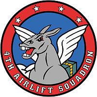 4th Airlift Squadron Emblem