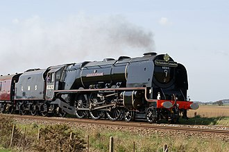 LMS Coronation Class - No. 6233 Duchess of Sutherland in presevation turned out in LMS Black.