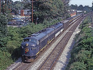 Capitol Limited (B&O train) - The Capitol Limited, at Silver Spring, MD on July 19, 1970.