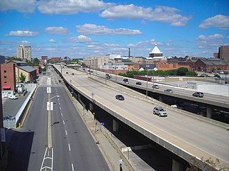 Interstate 83 - I-83 seen from the Orleans Street bridge