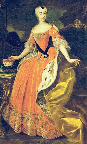 Princess Marie Auguste of Thurn and Taxis - Maria Augusta in 1735, portrait by Johann Philipp von der Schlichten