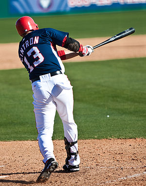 Alex Cintrón - Cintrón with the Washington Nationals