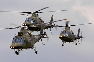 Agusta scandal - Belgian army Agusta A109 helicopters which were the subject of the scandal.