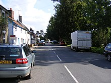 Image of A1120 road in Peasenhall