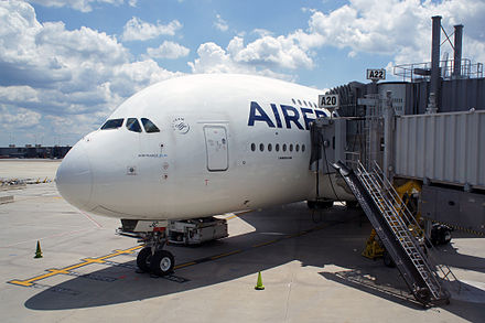 Air France operates daily, year-round flights on the Airbus A380 from Washington-Dulles to Paris out of gate A20/A22. - Washington Dulles International Airport