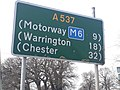 A537 road in England distance sign.jpg