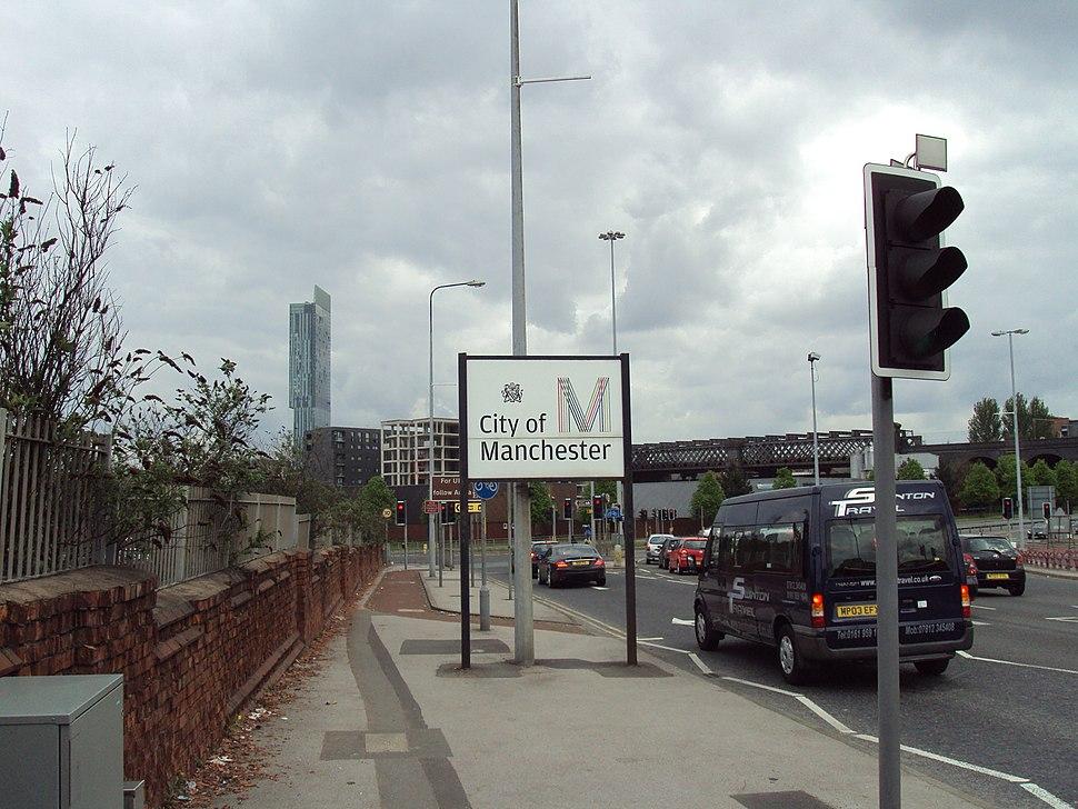 A57 Regent Road, City of Manchester sign - DSC05618