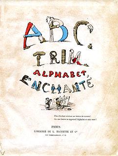 Alphabet book educational book to teach a languages alphabet
