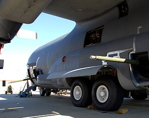 Mk44 Bushmaster II - AC-130U with a trial installation of two Mk 44 weapons.