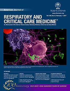 <i>American Journal of Respiratory and Critical Care Medicine</i> scientific journal