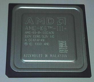 AMD K6-III - Image: AMD K6 III+ 550 M Hz