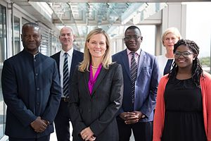 Africa Progress Panel - The Africa Progress Panel Secretariat (from left to right: Max Bankole Jarrett, Dan Graham, Caroline Kende-Robb, Damien Some, Kajsa Hultgren, Ebun Aribido)