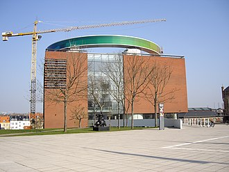 """ARoS Aarhus Kunstmuseum - Image: A Ro S """"Your rainbow"""" panorama under construction"""