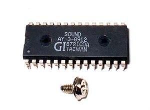 General Instrument AY-3-8910 - AY-3-8912 chip, 28-pin DIP package
