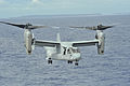 A U.S. Marine Corps MV-22 Osprey tiltrotor aircraft takes off from the flight deck of the aircraft carrier USS George Washington (CVN 73) in the Philippine Sea Nov. 17, 2013, after refueling in support 131117-N-BD107-140.jpg