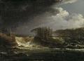 A Waterfall, Älvkarleby (Carl Johan Fahlcrantz) - Nationalmuseum - 21818.tif
